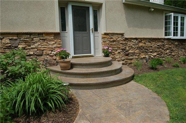 Concrete Entryways Liquid Stone Concrete Designs LLC Warminster, PA