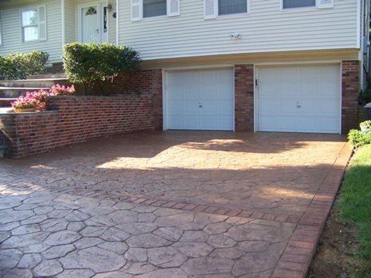 Natural Color, Driveway Concrete Entryways Concrete Impressions Inc. Bay Shore, NY
