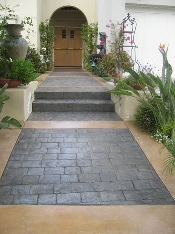 Path, Entrance, Walkway Concrete Entryways Creative Concrete Works Irvine, CA