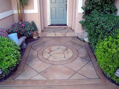 Pattern, Stamped Concrete Entryways Concrete Art Carlsbad, CA