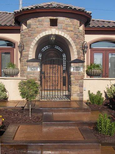 Concrete Entryways Rhodes Landscape Design, Inc Rio Linda, CA