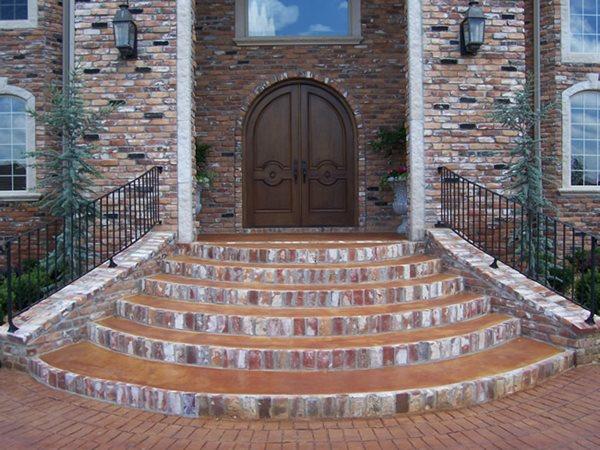 Concrete Entryways Solid Rock Concrete Services Gravette, AR