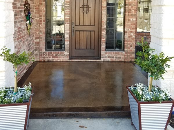 Stained Entry Concrete Entryways Concrete Canvas Forney, TX