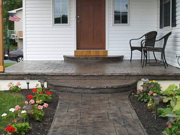 Stamped Porch, Front Door Concrete Entryways All American Concrete Form Inc Slatington, PA