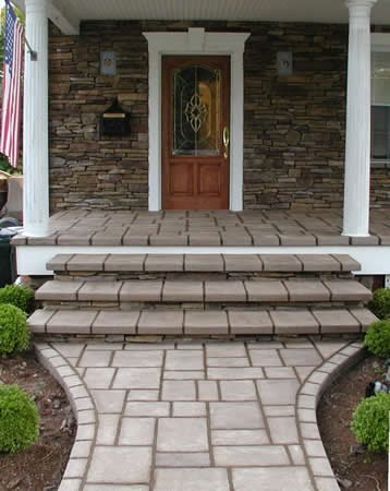 Steps, Stone Concrete Entryways Unique Concrete West Milford, NJ