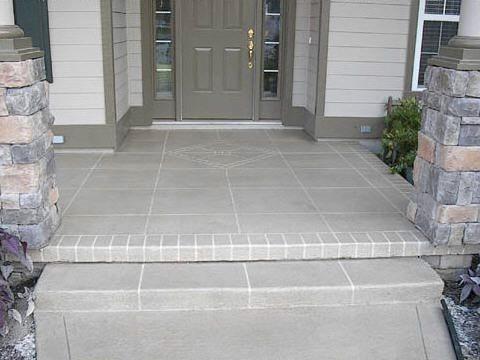 Tile, Walkway, Entrance Concrete Entryways Decorative Concrete of the First Coast JACKSONVILLE, FL