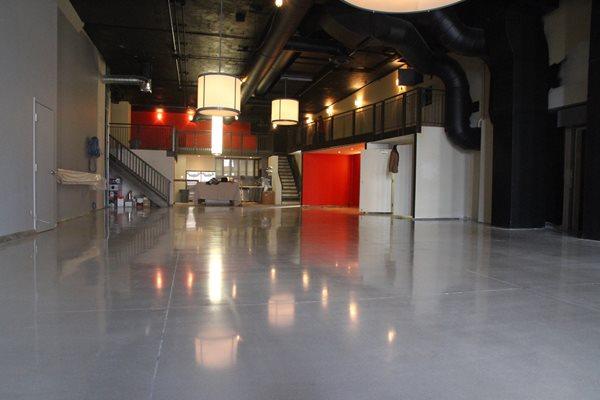 Polished, Polishable, Microtopping, Floor, Gray Concrete Floor Overlay Concrete Floors Polishing & Sealing Ltd Ottawa, ON