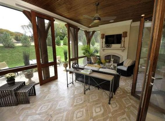 Stenciled Overlay Concrete Floor Overlay Bella Tucker Decorative Finishes Franklin, TN