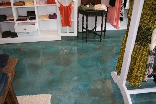 Aqua, Store Concrete Floors Progressive Concrete Coatings Wilmington, NC