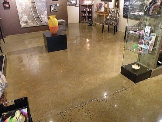 Art, Polished Concrete Floors Narrows Construction Gig Harbor, WA