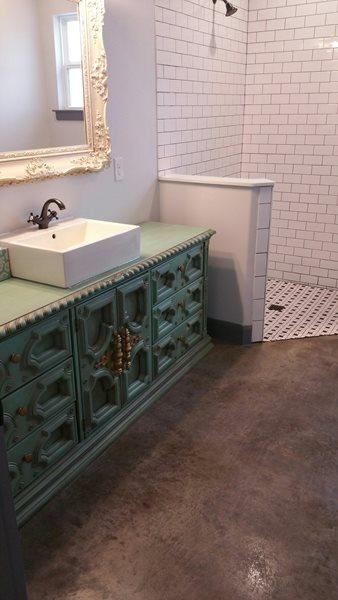 Bathroom Floor, Custom Concrete Floors Concrete Floors Custom Concrete Solutions Schertz, TX