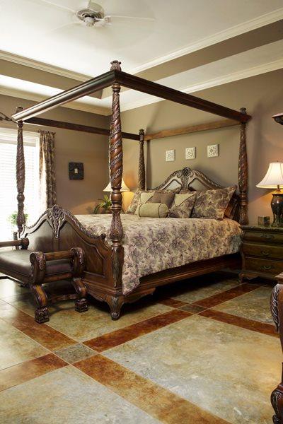 Bedroom, Lattice Concrete Floors Kemiko Concrete Coatings & Floor Systems Whittier, CA