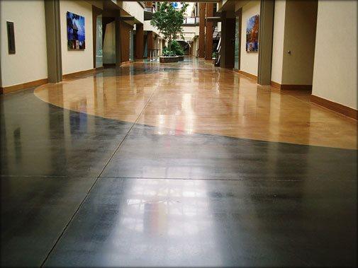 Black Tan Floor Concrete Floors L&M Construction Chemicals Omaha, NE