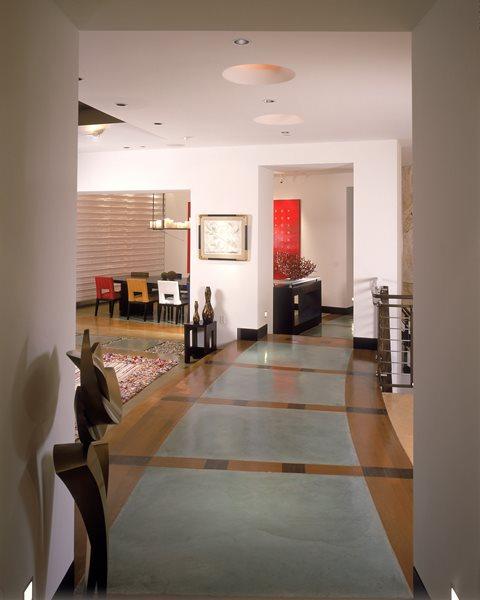 Border, Hallway Concrete Floors Masterpiece Concrete Compositions Oceanside, CA