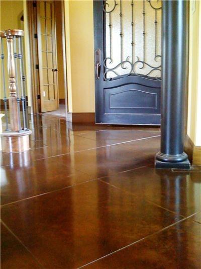 Brown, Entryway Concrete Floors Concrete Studio Dallas, TX
