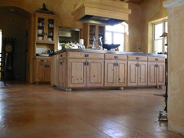 Brown, Matte Concrete Floors Colormaker Newbury, OH