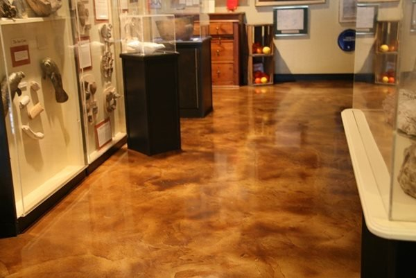 Brown, Museum, Stained Concrete Floors Sundek of PA Plymouth Meeting, PA