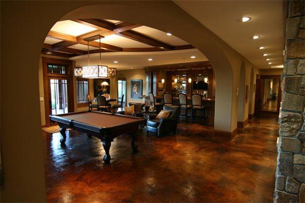 Brown, Pool Table Concrete Floors Concrete Arts Hudson, WI