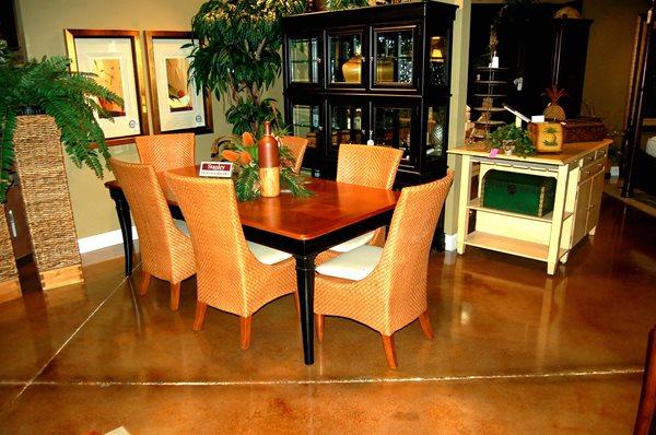 Brown, Scored Concrete Floors Elton John Designs Bradenton, FL
