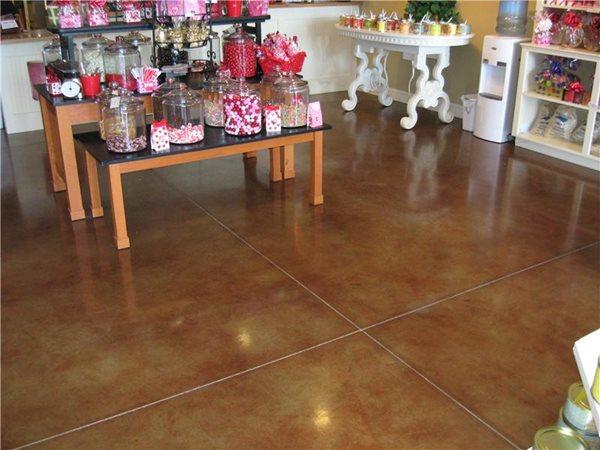 Brown, Store Concrete Floors J Hall Design Jeffersonville, IN
