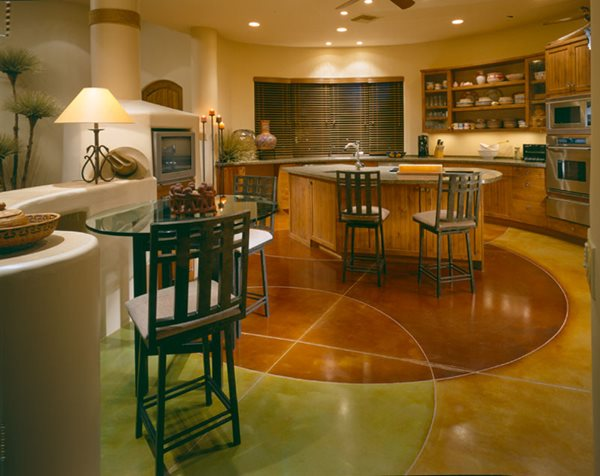 Circles, Warm Concrete Floors Progressive Hardscapes Phoenix, AZ