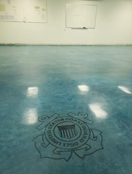 Coast Guard, Color, Blue Concrete Floors Open Earth, Inc. Bradenton, FL