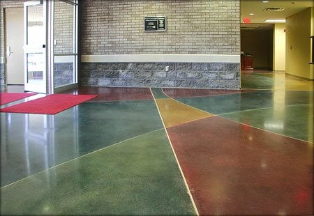 Colorful Stained Floor Concrete Floors L&M Construction Chemicals Omaha, NE