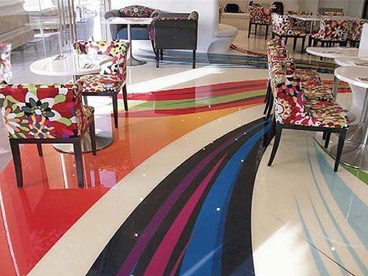 Colorful, Vibrant Concrete Floors National Concrete Polishing Pompano Beach, FL
