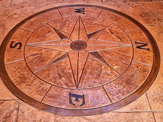 Compass, Design Concrete Floors Impressions Decorative Concrete, Inc Lutz, FL