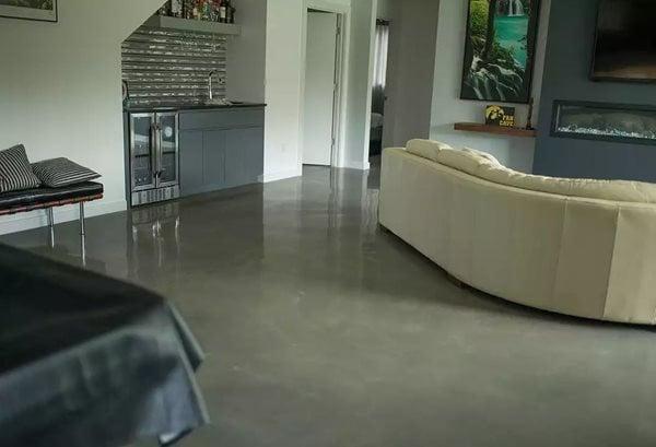 Concrete Floor, Decorative Concrete, Concrete, Living Room Floor Concrete Floors Dapper Surfaces LLC Rochester, MN