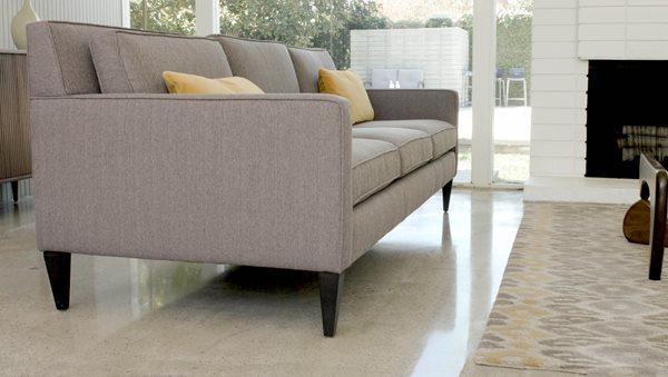 Couch, Living Space Concrete Floors Stellar Surfaces Inc Huntington Beach, CA