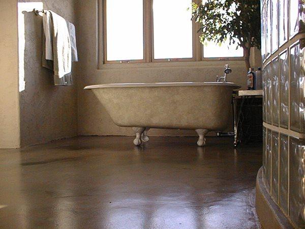 Dark, Matte Concrete Floors Colormaker Newbury, OH