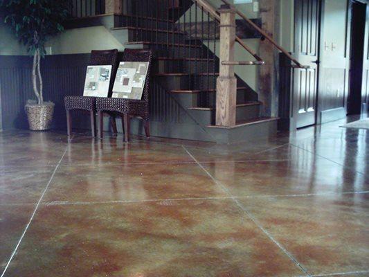 Diamond Cut, Stairs, Living Room Concrete Floors Custom Design Concrete Resurfacing Locust Grove, GA