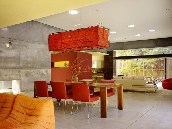 Dining, Floors, Concrete, Gray, Modern Concrete Floors Cheng Design Berkeley, CA