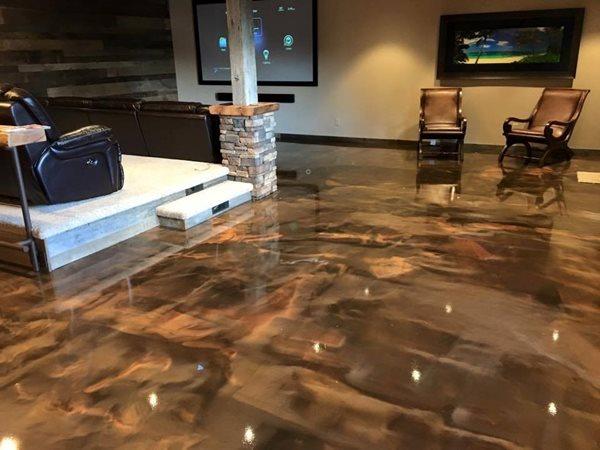 Epoxy Floor, Theater Room Concrete Floors Liberty Concrete & Epoxy Dallas, OR