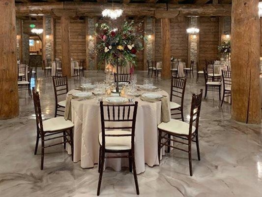 Epoxy Floors, Banquest Hall, Chairs Concrete Floors Affordable Overlays Unlimited California, PA