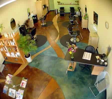 Free Form, Colorful Concrete Floors Diamond D Company Capitola, CA
