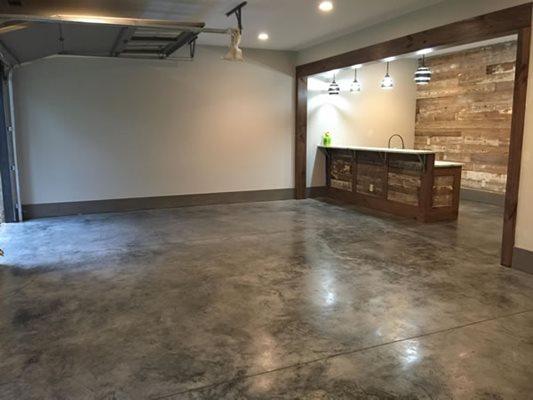Garage, Polished, Bar Concrete Floors Buckhead Stone Care Winder, GA