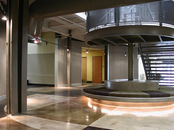 Geometric, Circle Concrete Floors Colormaker Newbury, OH