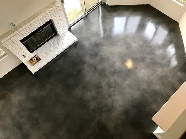 Gray Floor, Stained Concrete Floor Concrete Floors KB Concrete Staining Norco, CA