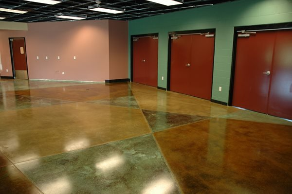Green, Natural Concrete Floors Artistic Surfaces Inc Indianapolis, IN