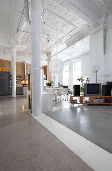 Grey Floor Concrete Floors Atelier B Montreal, Quebec