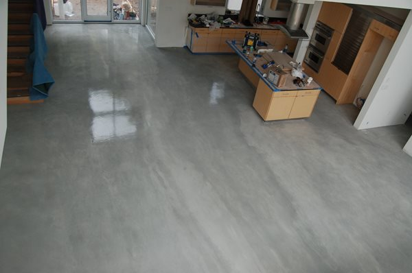 Grey, Streaked Concrete Floors Elton John Designs Bradenton, FL
