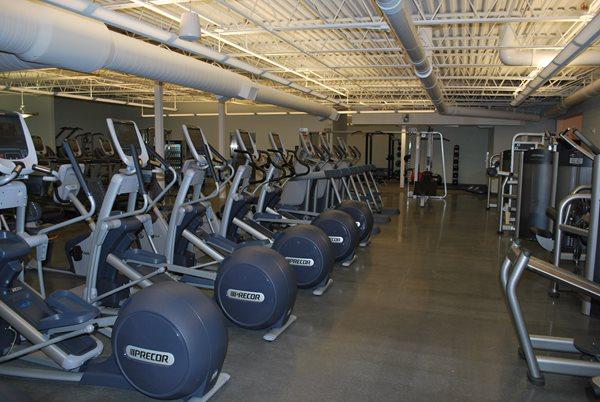 Gym, Polished Floors, Elipticals Concrete Floors Contract Flooring & Design Inc Kinston, NC