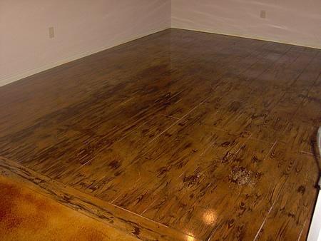 Hardwood, Wood Concrete Floors Custom Concrete Solutions Schertz, TX