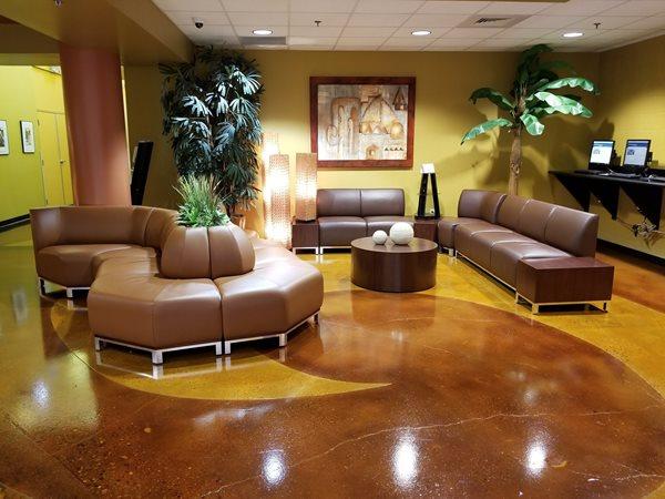 Indoor Stain, Acid Staining Concrete Floors Borders by Design Decorative Concrete Mcallen, TX