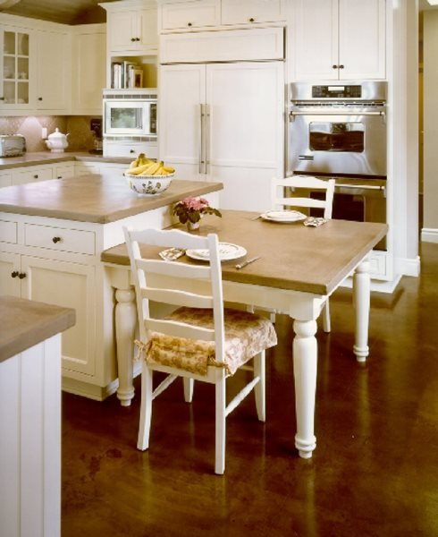 Kitchen, Coffee Concrete Floors Masterpiece Concrete Compositions Oceanside, CA