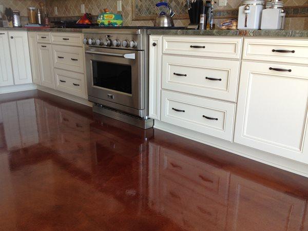 Kitchen Floor Coating Concrete Floors Infinity Concrete Coatings Newport Beach, CA