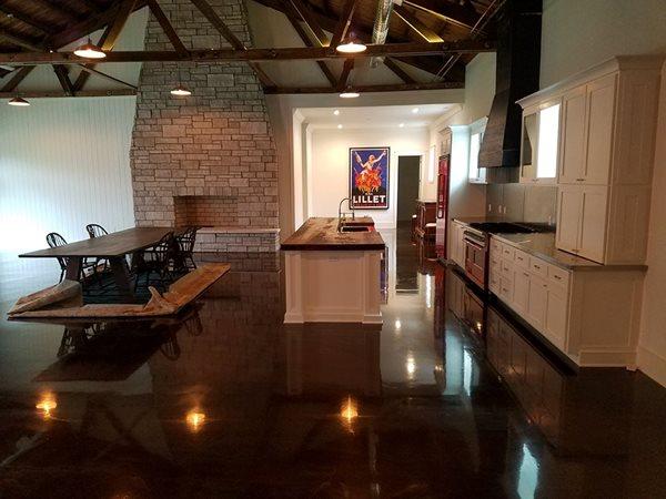 Kitchen Floor, Metallic Coating Concrete Floors Elite Concrete Coating and Polishing Nashville, TN