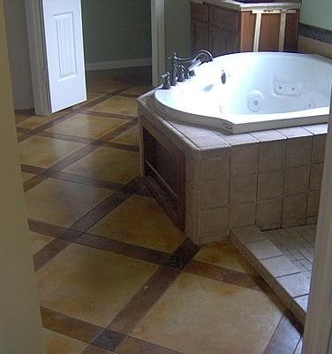 Latice, Bathroom Concrete Floors Custom Concrete Solutions Schertz, TX